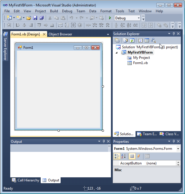 visual basic how to create an executable project