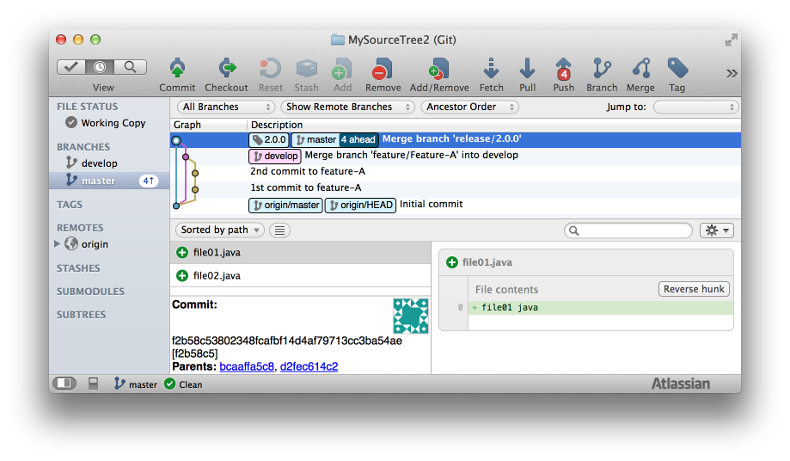 Tutorial Git and GitHub : Source Tree III (Git Workflow ...